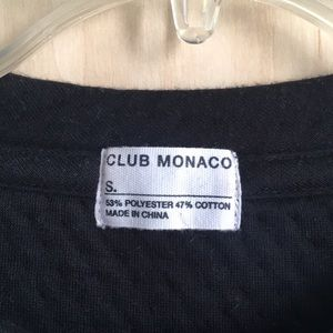 Club Monaco Tops - Club Monaco quilted sweatshirt with elbow patches
